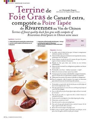 Foie gras à la Poire Tapée